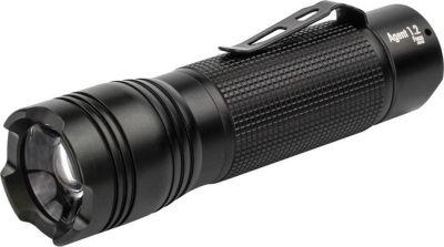 1600-0087 Taschenlampe Agent 1.2F 230 Lumen inkl. 3 Micro AAA Batterien, schwarz (1 Stück)