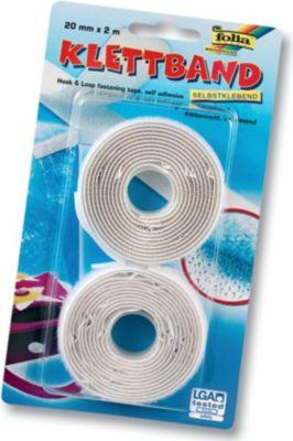 Klettband, 20mm x 2m, selbstklebend
