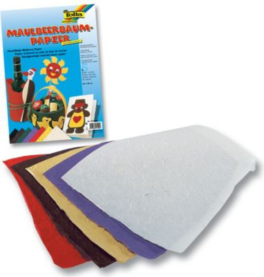 Folia Maulbeerbaum Papier 100 g/m², 25 x 38 cm, 5 Bogen, mehrfarbig (1 Stück)