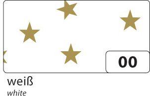 Weihnachts E-Wellpappe mit goldenen Sternen, 50x70cm, 10 Bogen, weiß