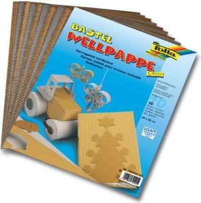 E-Wellpappe, 35x50cm, silber/gold (10 Bogen)