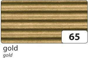 E-Wellpappe gerollt, 50x70cm, 1 Rolle, gold (1 Stück)