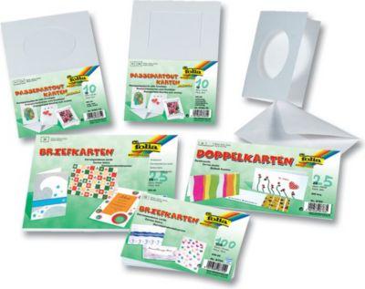 10 Passepartoutkarten 250g/m², holzfrei, weiß, rechteckiger Ausschnitt