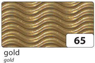 3D-Wellpappe, 50x70cm, 10 Bogen, gold (1 Stück)