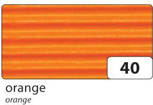 Folia E-Wellpappe gerollt, 50x70cm, 1 Rolle, orange (1 Stück)