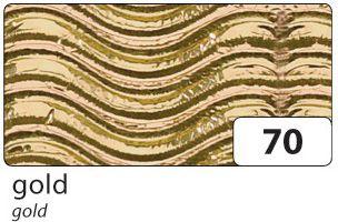 3D-Wellpappe, 50x70cm, 10 Bogen, gold/metallic (1 Stück)