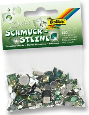 Deko Schmucksteine aus Acryl, Mystic Herbs, grün (550er Pack)