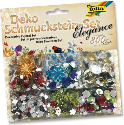 Deko Schmucksteine aus Acryl, Elegance, mehrfarbig, 800-teilig (1 Set)