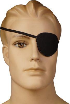 BestSaller 1323 Piraten Augenklappe, mit Stretchband, schwarz (1 Stück)