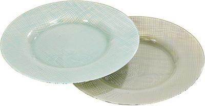 Deko-Teller ´´Jena´´ aus lackiertem Glas, Ø 32 x 2 cm (Farbe zufällig, 1 Stück)