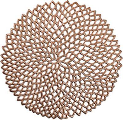 Present 26816 ´´Cut Out´´ Tischset, PVC, Ø 38 cm, rund, kupfer (1 Stück)