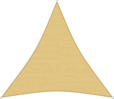 sunprotect 83495 Professional Sonnensegel, 4,5 x 4,5 x 4,5 m, Dreieck, wind- &amp| wasserdurchlässig, beige | Garten > Sonnenschirme und Markisen > Sonnensegel | Sunprotect