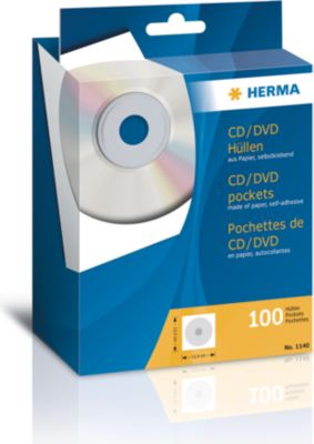 HERMA CD-Papierhüllen weiß mit Klebefläche 100 St.