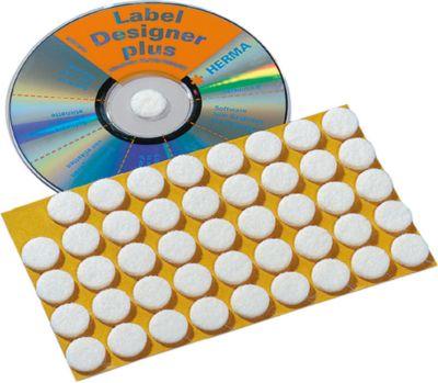 HERMA CD-Fixierungspunkte weiß 15 mm Filz 90 St.