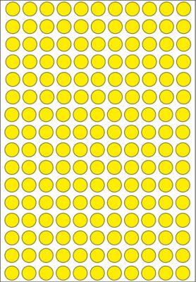 HERMA Vielzwecketiketten gelb 8 mm rund Papier 5632 St.
