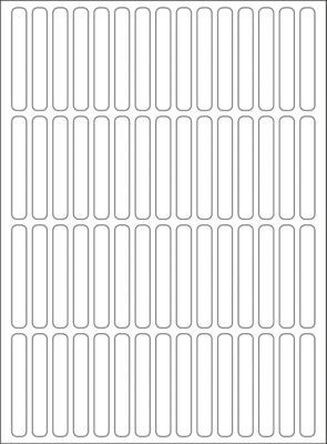 HERMA Vielzwecketiketten weiß 5x35 mm Papier matt 1920 St.