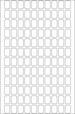 HERMA Vielzwecketiketten weiß 8x12 mm Papier matt 3840 St.