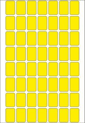 HERMA Vielzwecketiketten gelb 12x18 mm Papier matt 1792 St.