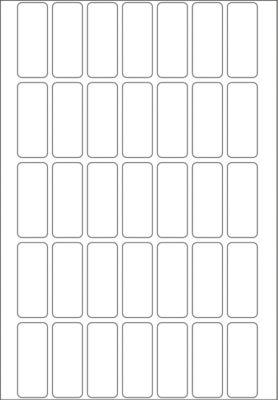 HERMA Vielzwecketiketten weiß 12x30 mm Papier matt 1120 St.