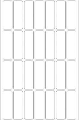 HERMA Vielzwecketiketten weiß 13x40 mm Papier matt 896 St.
