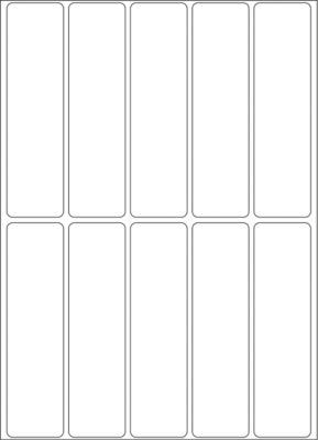HERMA Vielzwecketiketten weiß 20x75 mm Papier matt 320 St.