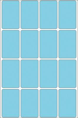 HERMA Vielzwecketiketten blau 25x40 mm Papier matt 512 St.
