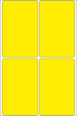 HERMA Vielzwecketiketten gelb 52x82 mm Papier matt 128 St.