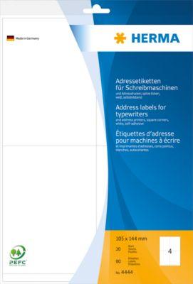 HERMA Adressetik. 105x144 mm Papier Ecken spitz 80 St.