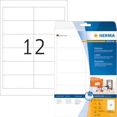 HERMA Inkjet-Etiketten A4 weiß 97x42.3 mm Papier 300 St.
