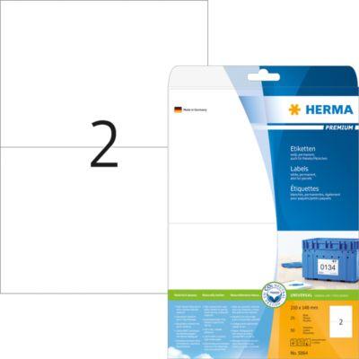 HERMA Etiketten Premium A4 weiß 210x148 mm Papier 50 St.