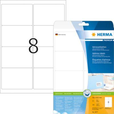 HERMA Adressetiketten A4 weiß 99.1x67.7 mm Papier 200 St.