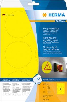 HERMA Signal-Schilder A4 85 mm gelb Folie 150 St.