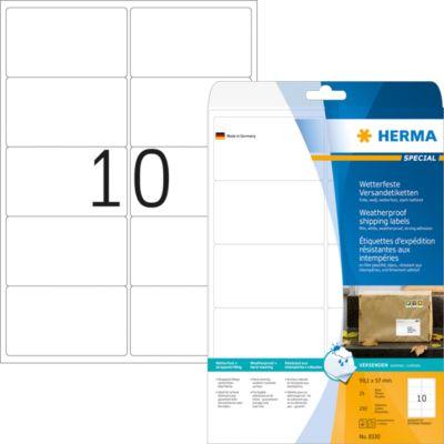 HERMA Adressetiketten A4 weiß 99.1x57 mm Folie 250 St.