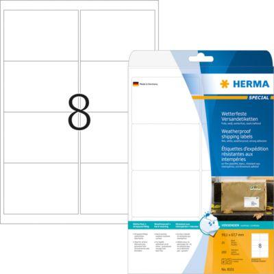 HERMA Adressetiketten A4 weiß 99.1x67.7 mm Folie 200 St.
