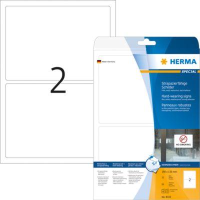 HERMA Schilder A4 weiß 190x135 mm Folie 50 St.