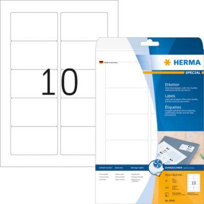 HERMA Inkjet-Etiketten A4 weiß 83.8x50.8 mm Papier 250 St.