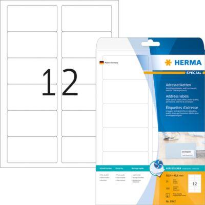 HERMA Inkjet Adressetik. A4 weiß 88.9x46.6 mm Papier 300 St.