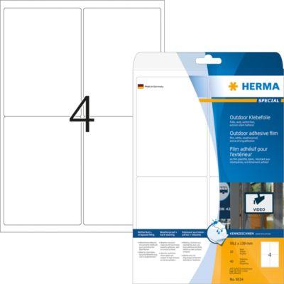 HERMA Etik. A4 Outdoor Klebefolie weiß 99.1x139 mm 40 St.