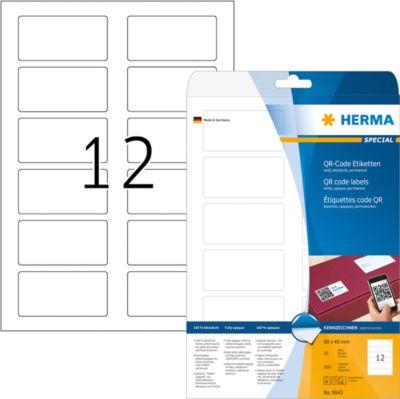 HERMA QR-Code Etik. A4 80x40 mm weiß 300 St.