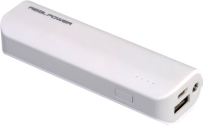 Powerbank RealPower PB2600 mAh weiss