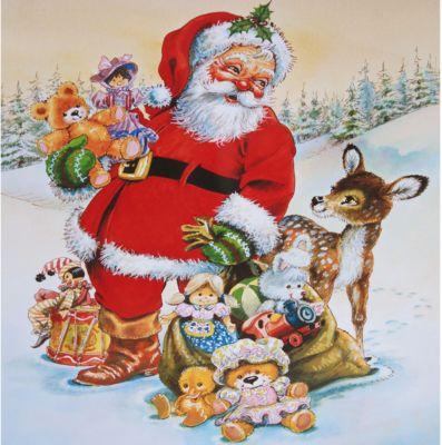 HERMA Fensterdecor Santa Claus 30x30 cm