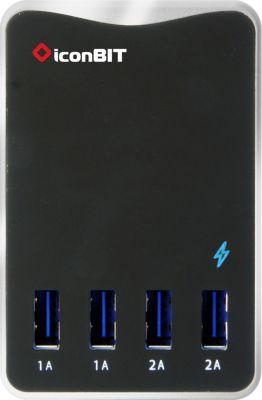 USB-Ladegerät iconBIT FTB 4U 6T 4*USB 5V/6A Smart IC 30W