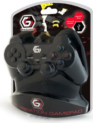 Gamepad Gembird USB Gamepad Dual Vibration 10 T...