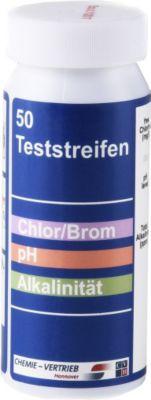 50 Pool Teststreifen pH Chlor Brom Alkalinität