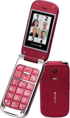 OLYMPIA Becco plus - Senioren Mobiltelefon in rot