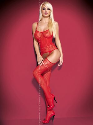 Bodystocking G307 rot Größe: S-L one-size