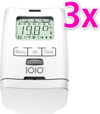 3er Set Elektronischer Heizkörperthermostat Thermostat Thermostatventil HT 2000 Made in Germany