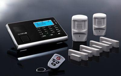 Olympia OLYMPIA Protect 9061 Premium Plus Alarmanlage GSM Funk Set 2 x Bewegungsmelder 4 x Tür Fenster/Kontakte und Fernbedienung