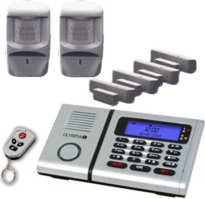 Olympia  Premium Plus Drahtloses Alarmanlagen-Set 6061 mit Integrierter Telefonwähleinheit