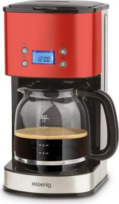 MG30 Edelstahl Kaffeemaschine 12 Tassen Edelstahl/Rot
